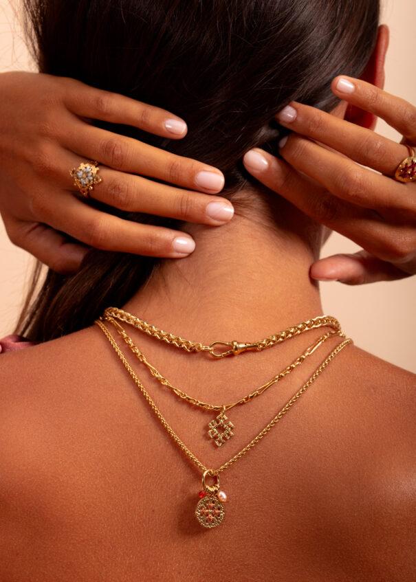 collier amulette cuivrée rimini