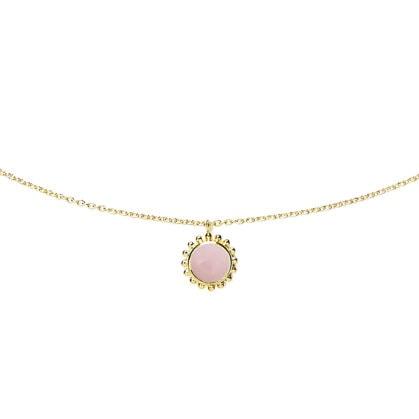 Collier plein soleil opale rose zoom ADV