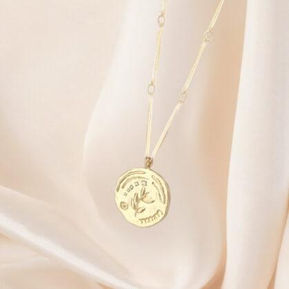 collier medaille shirine chez poissonplume bijoux