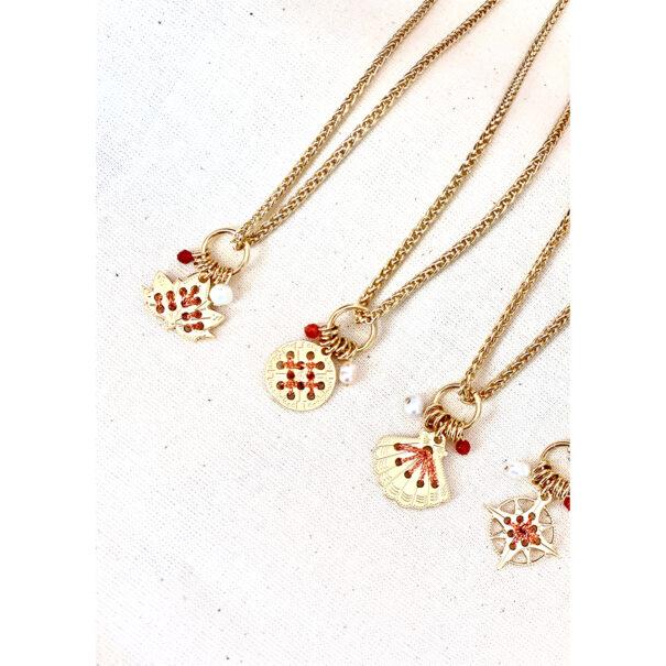 colliers amulettes cuivrees chez poissonplume bijoux