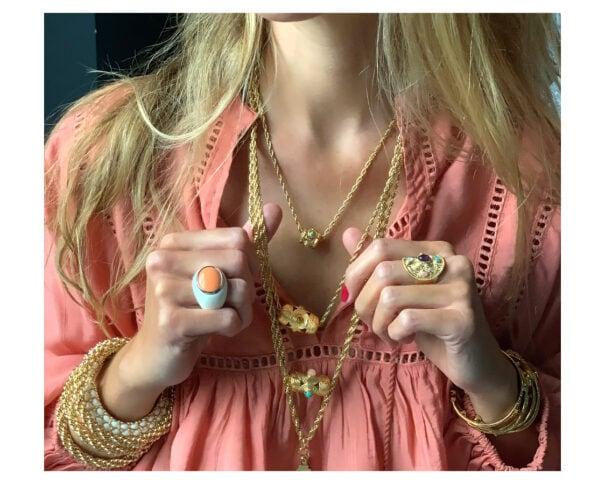 collier petite amulette Panarea