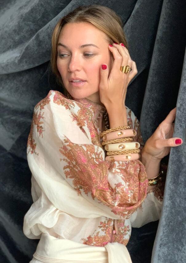 bracelet amalfi beige rosé dear charlotte