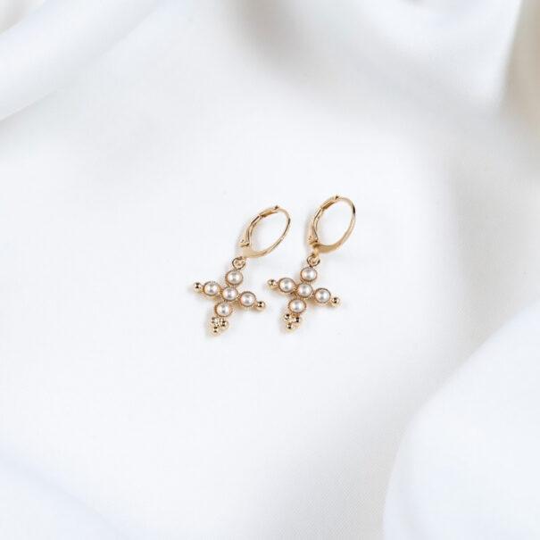 boucles d'oreilles Cruz perles