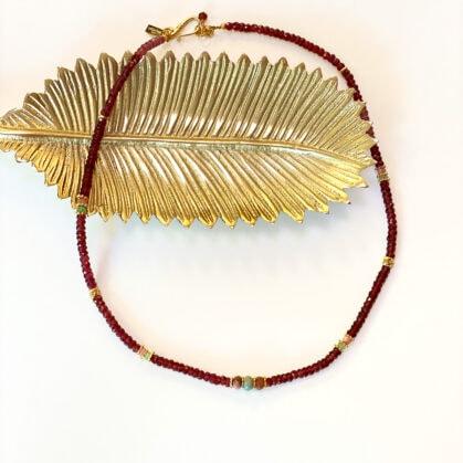 bracelet-collier amaia multitours grenats poisosnplume bijoux