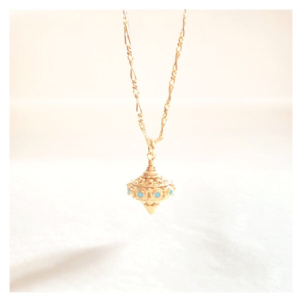 collier mayra turquoise chez poissonplume