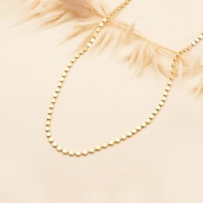 collier billes laminées Léontine