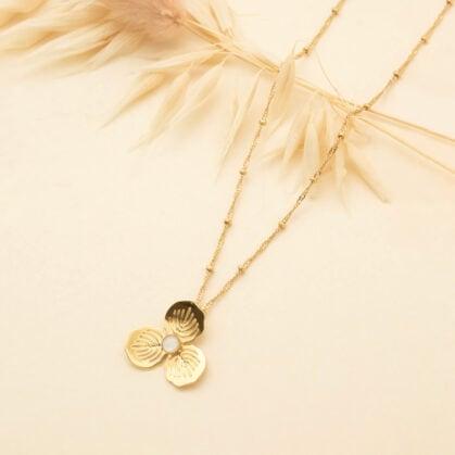 collier eglantine nacre primavera