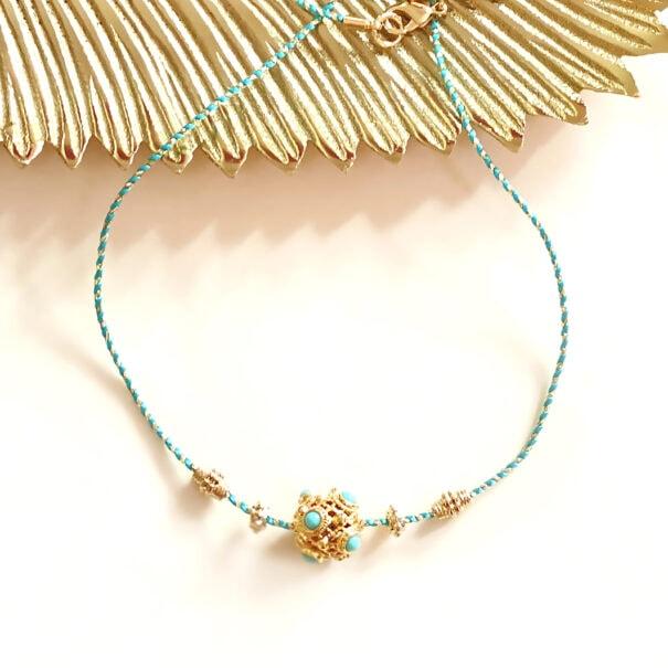 collier Padmah turquoise chez poissonplume bijoux