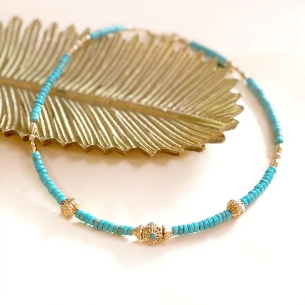 Collier mohana turquoise chez poisson plume bijoux
