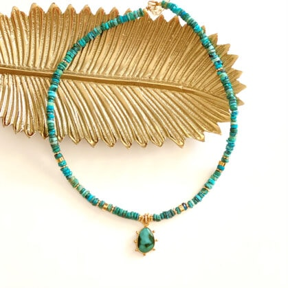 collier chocker heloise turquoise eole