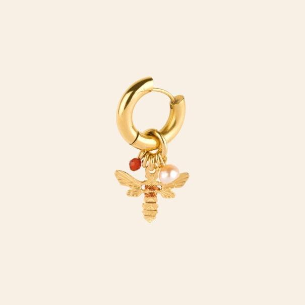 créole amulette abeille cuivrée chez poisson plume bijoux