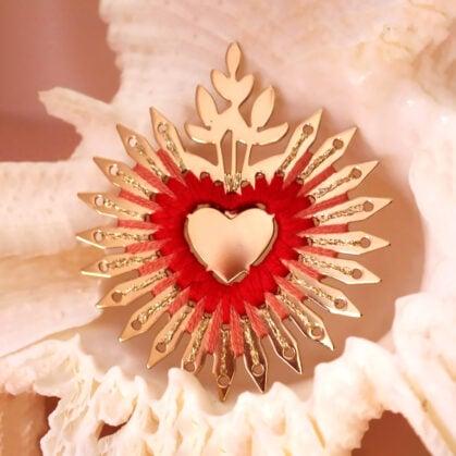 pin's coeur flamboyant