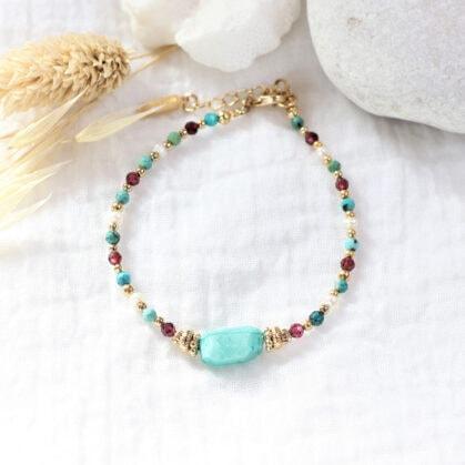 Bracelet Frida Amazonite multipierres
