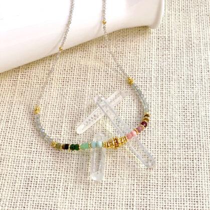 collier frida rainbow chez poissonplume bijoux