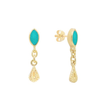 boucles Nala turquoise