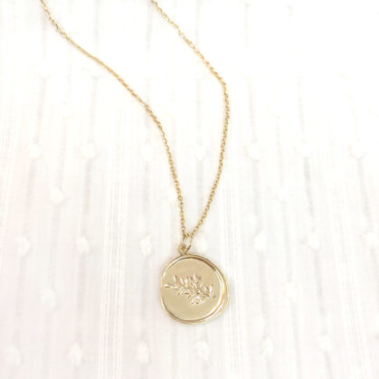 collier anna plaque or