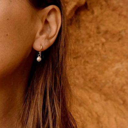 boucles d'oreilles Clea chez poissonplume bijoux
