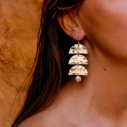 boucles d'oreilles Diana chez poisson plume bijoux