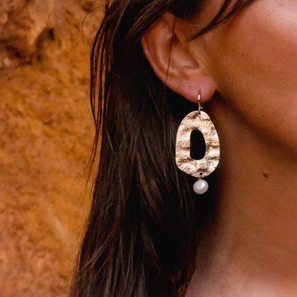 boucles d'oreilles Perla chez poisson plume bijoux